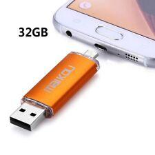 PEN DRIVE CHIAVETTA MEMORY USB OTG 32 GB PER CELLULARE PC 2 IN 1