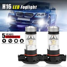 5202 H16 LED Fog Light White Lamp for GMC Sierra 1500 2007-2015 6000K 100W Bulb
