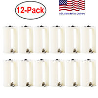3 AA to Size D Battery Adapters Converter Cases Plastic Parallel White 12 Pcs