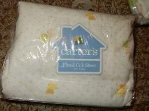 2K NWT Vintage Carter's Hide & Seek Bunny Bears Fitted Crib Sheet or Toddler bed