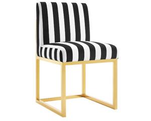 TOV Furniture Haute Chair Paris Velvet  TOV-D41 Black & White