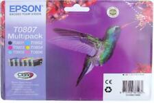 C13T08074021 Epson T0807 Claria Ink Cartridge Multi 6 Pack for Stylus Photo R265