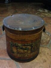 Antique Heinz Mince Meat Wooden Tin Bucket  H.J. Heinz Company Advertising