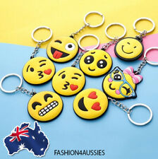 Rubber Emoji Keychain Emoticon Face Key Chain Bag Keyring Funny Mini Toy