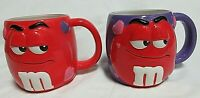 M&M's Candy Mug   Red M&M. Valentine Gift Galerie CollectibleMug Lot of 2
