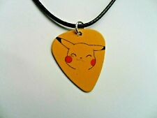 Pokemon PIKACHU   Guitar Pick  //  Plectrum  Leather  Necklace a