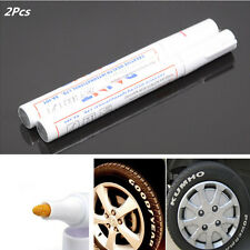Car Tyre White Marker Pen Paint Waterproof Wheel Rubber Tire Tread Letters 2Pcs