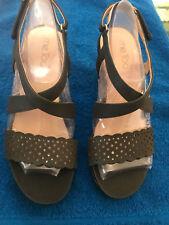Me Too Women's Black Alexa4 Wedge Heels, Size 7.5, NIB