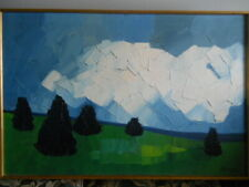 "Claude Picher Oil on Canvas ""LANDSCAPE""  (1927-1998) ARCA Canadian Quebec"