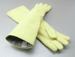 """High Temperature Gloves Heat Resistant Furnace Safety Gloves Smelting Pair 23"""" L"""
