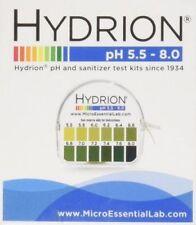 Hydrion  pH TEST Tape Strips Paper Urine & Saliva Dispenser 5.5-8.0 MPN 067