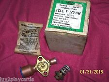 ALCO CONTROLS TCLE 7-1/2 HW STRAIGHT THRU THERMO VALVE  Range -10F-+50F NOS