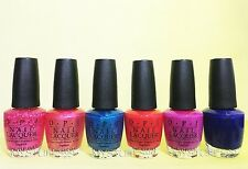 Opi Nail Lacquer *Brights Collection 2015* 6 Shades Set Discontinued Free Ship!