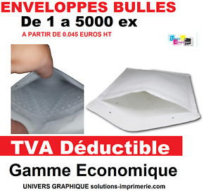 Enveloppe à bulle d'air ECONOMIQUE Pochette matelassé d'Expédition protection