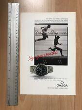 Omega Speedmaster Moon 1988 Advertisement Pub Ad Werbung