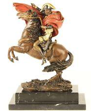 Bronzeskulptur Napoleon Bonaparte beim Überschreiten der Alpen Bronze Figur bunt