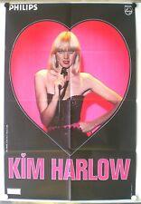 KIM HARLOW – AFFICHE ORIGINALE – PHILIPS - BERNARD LELOUP - TRES RARE - 1978