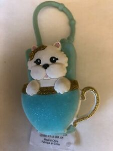 Bath Body Works Sanitizer Holder Cute Puppy In Cup New W/Tag