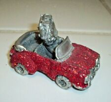 Beautiful Betty Boop Pewter Figurine in Red Sparkly Car