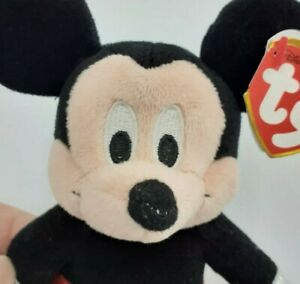 Ty Disney Sparkle Mickey Mouse The Beanie Baby Collection Plush Stuffed Toy 2017