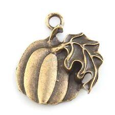 20x 143484 Hotsale Charms Pumpkin & Leaf Antique Bronze Alloy Pendants Findings