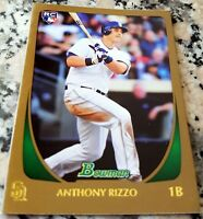 ANTHONY RIZZO 2011 Bowman GOLD Rookie Card Logo RC Chicago Cubs 2016 WS Champs