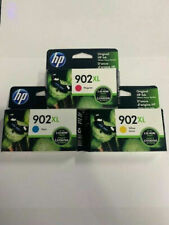 Genuine HP 902xl 3-pack Cyan Yellow Magenta Ex: 2022 Color Ink Cartridges
