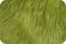 Mongolian Faux Fur Olive Green Photography Prop Newborn Nest 18 x 30 Inches