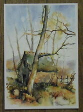Carte postale Aquarelle Jean Lacalmontie,sechoir Cassaniouze,postcard