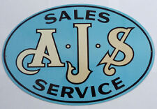 AJS Dealer Sales Service motorcycle garage metal sign