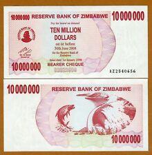 Zimbabwe, 10,000,000 (10000000) dollars, 2008, P-55, UNC
