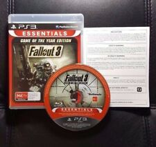 Fallout 3 Game of the Year Edition (Sony PlayStation 3, 2009) PS3 Game