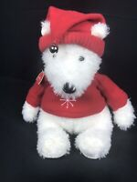 Hallmark Christmas Plush Polar Bear ~ White Red Sweater Santa Hat Stuffed Animal