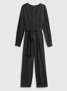 NWT Gap V-Neck Jumpsuit - Black, 4 Petite