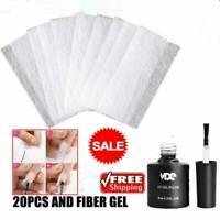 20PCS Nail Care Fiberglass Silk Nails Wrap for Gel Extension Nail Art Tool Kits