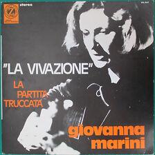Giovanna Marini La vivazione La partita truccata 1972 INTROVABILE NM/M LP