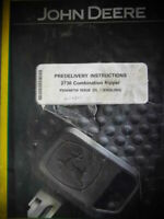 2012 John Deere Predelivery Instructions 2730 Combination Ripper Manual Diagrams