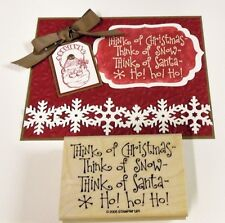 Stampin Up Think of Christmas sentiment stamp~use ovals collection framelits