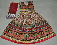 Designer Navaratri Chaniya choli Lahenga Garba Dance costume Multi ColorM/L