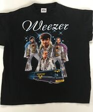 Weezer 1990's Brush Your Teeth & Do Your Homework Concert XL T-Shirt w/Elvis Bus