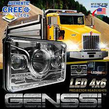 1x LED Projector Headlight For Kenworth T800 T400 T600 W900B W900L Classic
