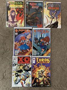 Dark Horse, Valiant And Malibu Comics. Lot Of 7