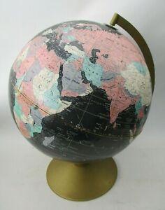 "1960s Philips Blackbird Challenge 12"" Globe on Stand - Replogle"