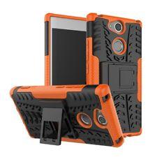 Sony Xperia xa2 outdoor case Tyre antideslizante kick stand neumáticos funda de silicona Orange