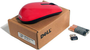 Dell Red Wireless Mini Mouse With Receiver New WM311-RED