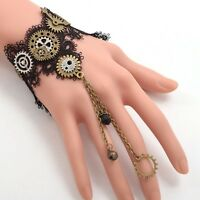 1pc Lolita Girls Steampunk Gear Lace Bracelet Gothic Punk Vintage Bracelets