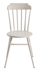 Aluminium Indoor Outdoor Windsor Dining Chair Rustic Cafe Furniture White