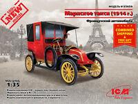 ICM 35659 - 1/35 Taxi De La Marne 1914 French Car WWI plastic model scale