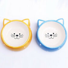 Ceramic Cat Face Pet Bowl - Food or Water Bowl - 2 Colours