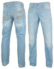 CIPO & Baxx Hommes Jeans Pantalon c-836 épaisseur contraste coutures bleu regular fit w28 l32
